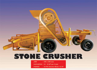mesin stone crusher portable