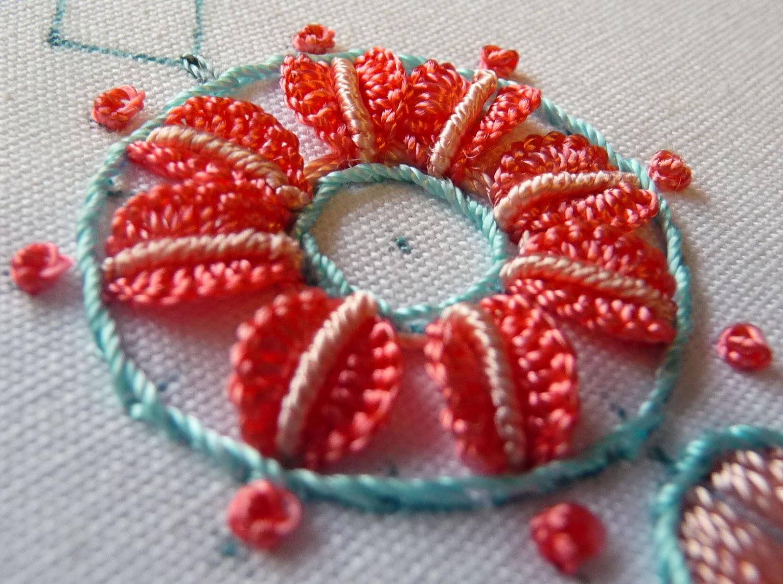 Rosaliewakefield Millefiori Brazilian Embroidery Stitch