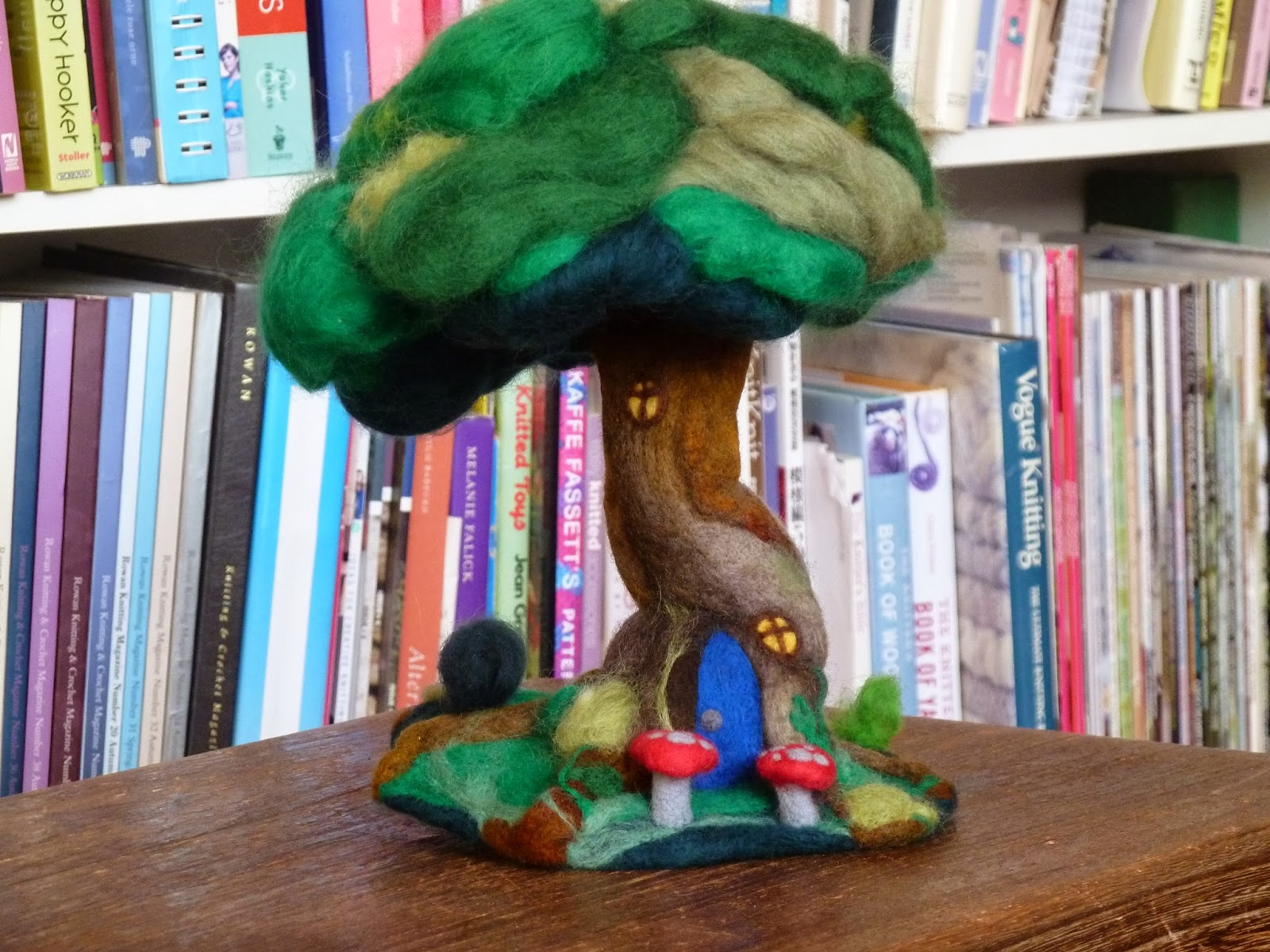 Needled felted tree house