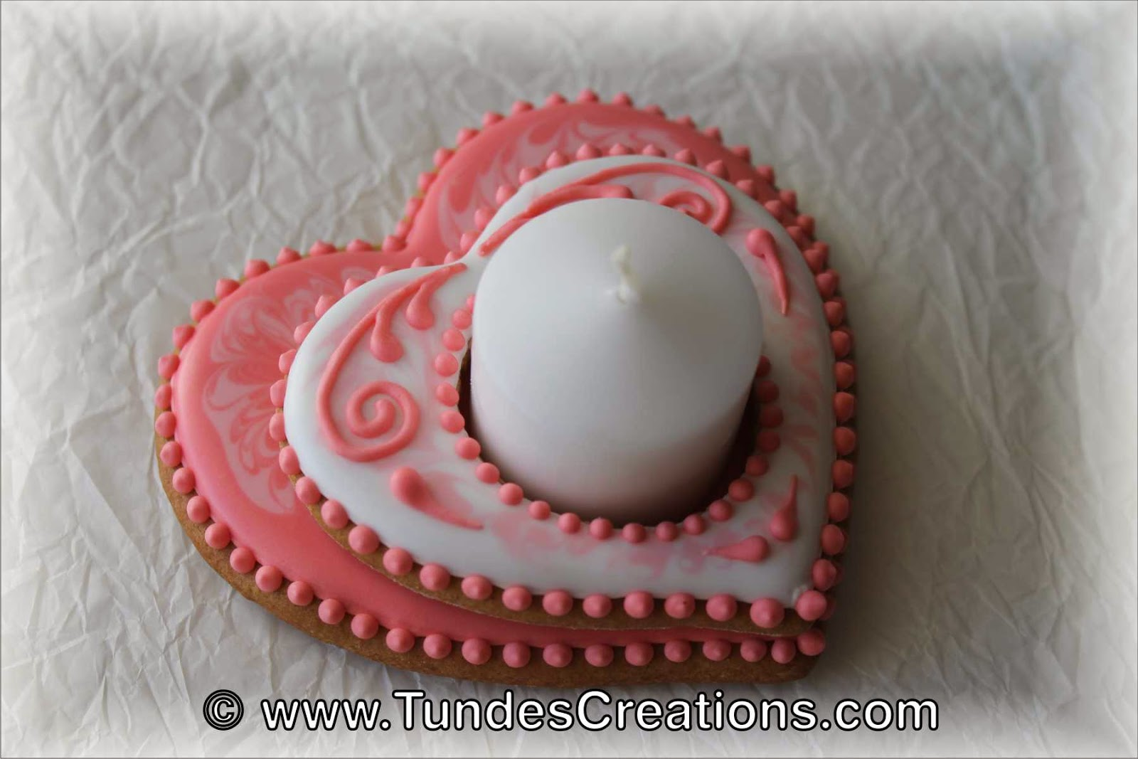 Valentine's cookie candle holder