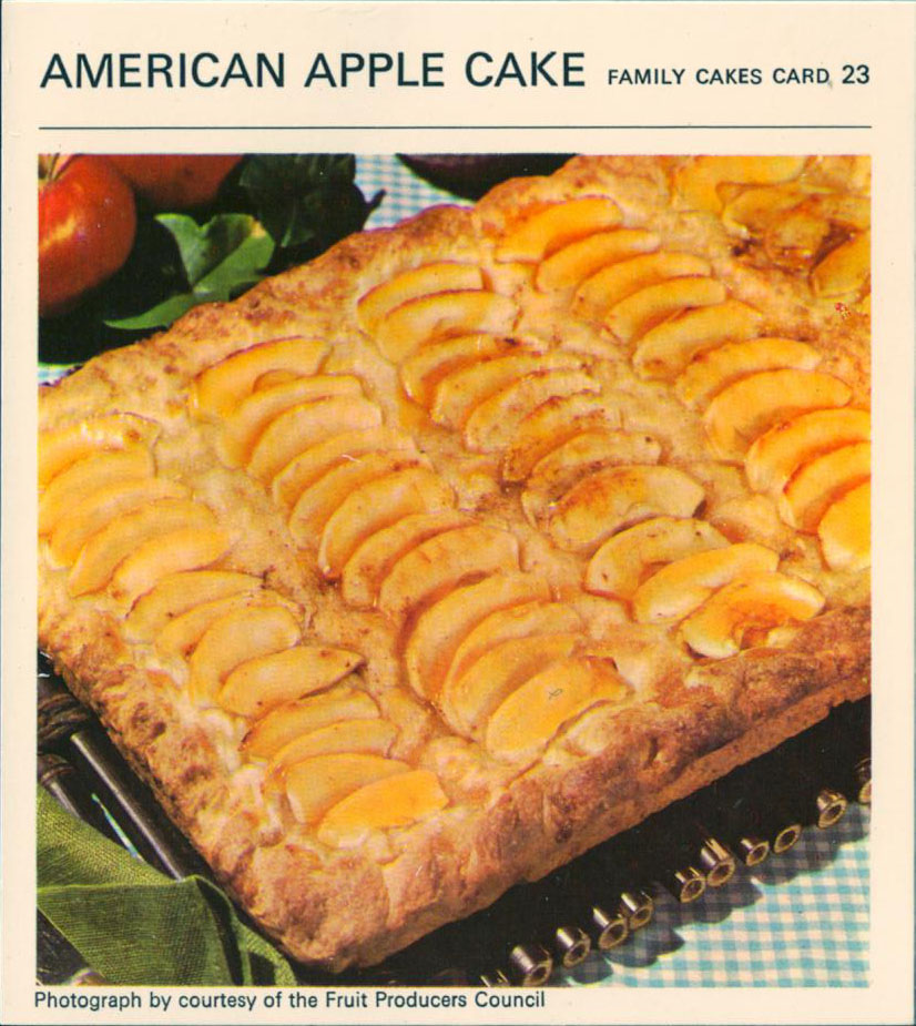 American apple cake vintage recipe card american apple cake vintage recipe card forumfinder Images