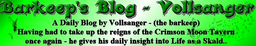 Barkeep's Blog - Vollsanger