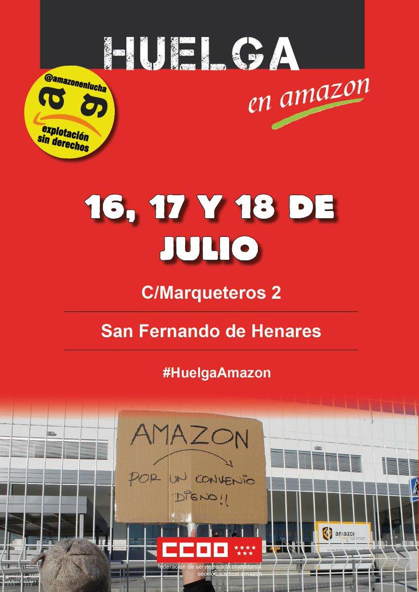 16 a 18 de julio Huelga en Amazon