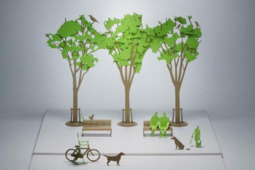 Как сделать деревья бумаги