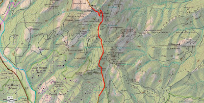 Mapa del Camí dels Monjos a La Mola