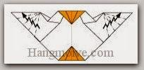 Bước 19: Tạo các cạnh gấp khúc lại cho giống cánh.
