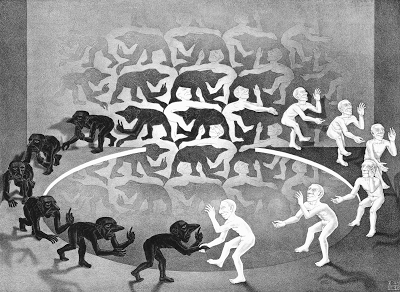 The Encounter by M.C. Escher (1944)