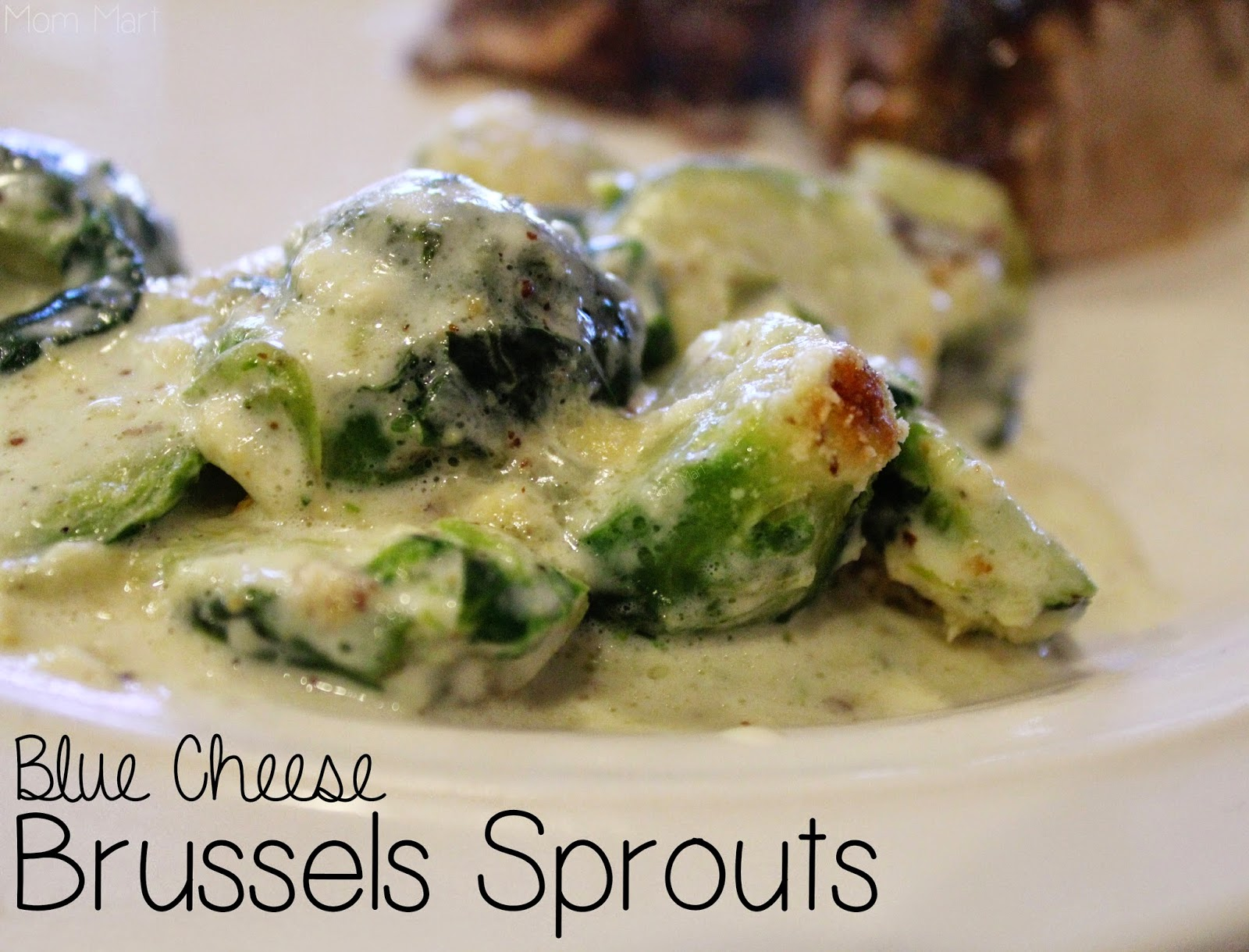 Blue Cheese Brussels Sprouts #Recipe #SideDish #Veggies #YUM #Foodie