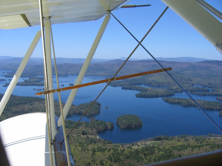 View from a biplane over Lakes