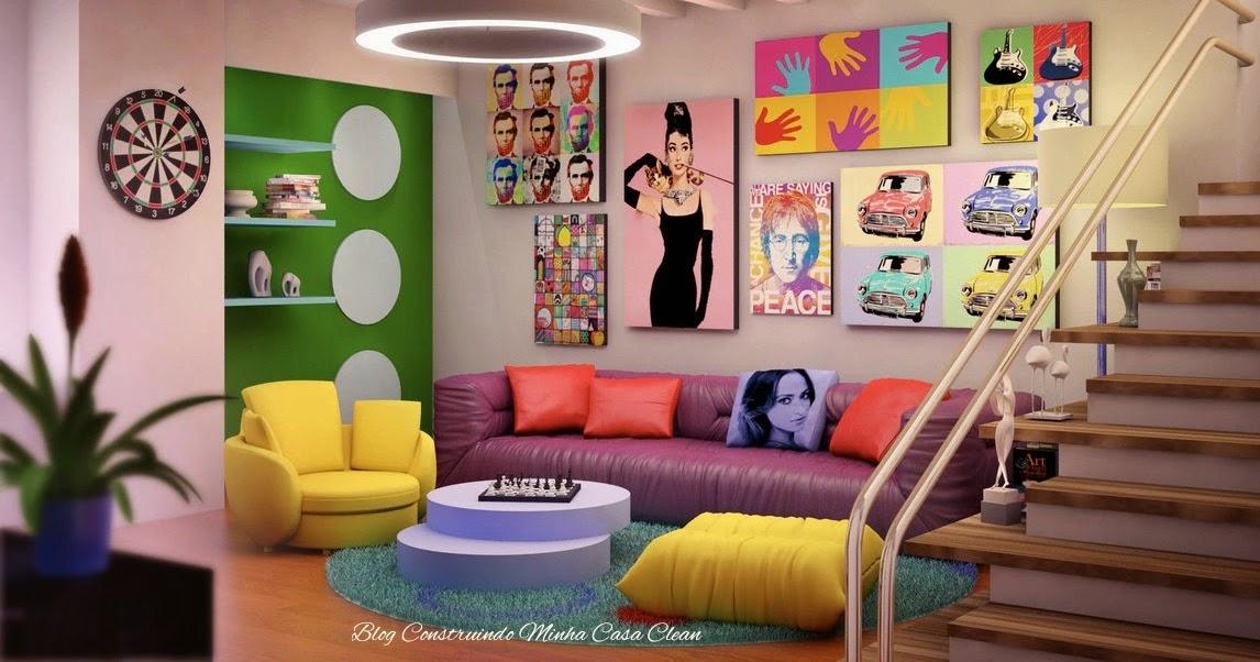 Casa Clean: Decoração Kitsch! Ambientes com Doses Extras de Cores