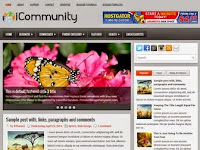 iCommunity - Premium Blogger Templates Free Download