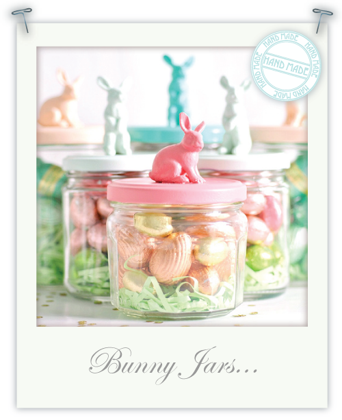 Bunny jars for Easter by Torie Jayne