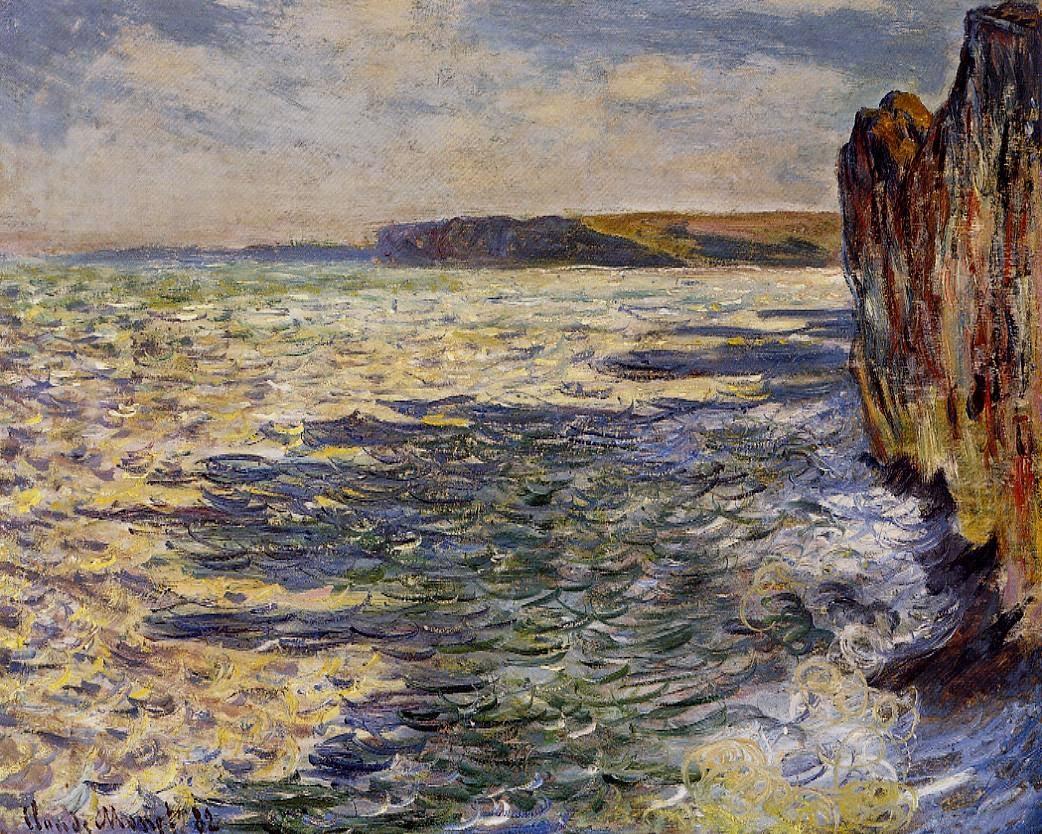 Les vagues et les rochers à Pourville (1882)