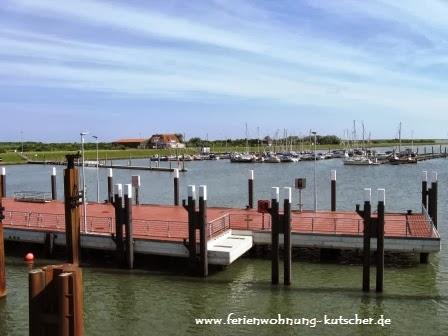 Schiffsanlager und Yachthafen auf Spiekeroog