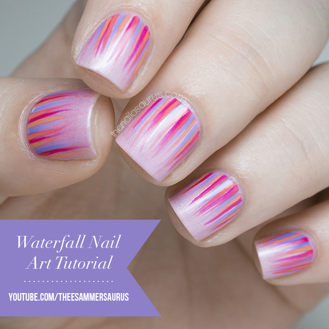 Waterfall Nail Art Tutorial Video | The Nailasaurus | UK Nail Art Blog