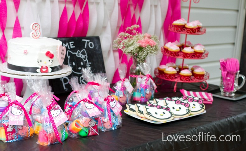Loves of Life Emelines Hello Kitty 3rd Birthday Party