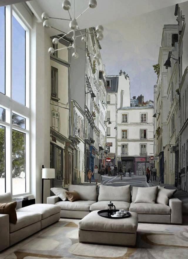 Decoraci n de interiores con fotograf as decoramos las for Vinilos pared entera
