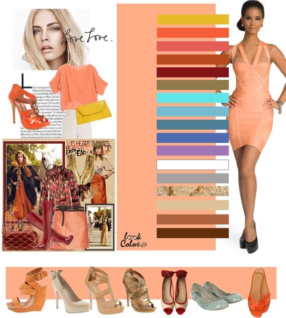 Коралловый бледый персиковый цвет одежды