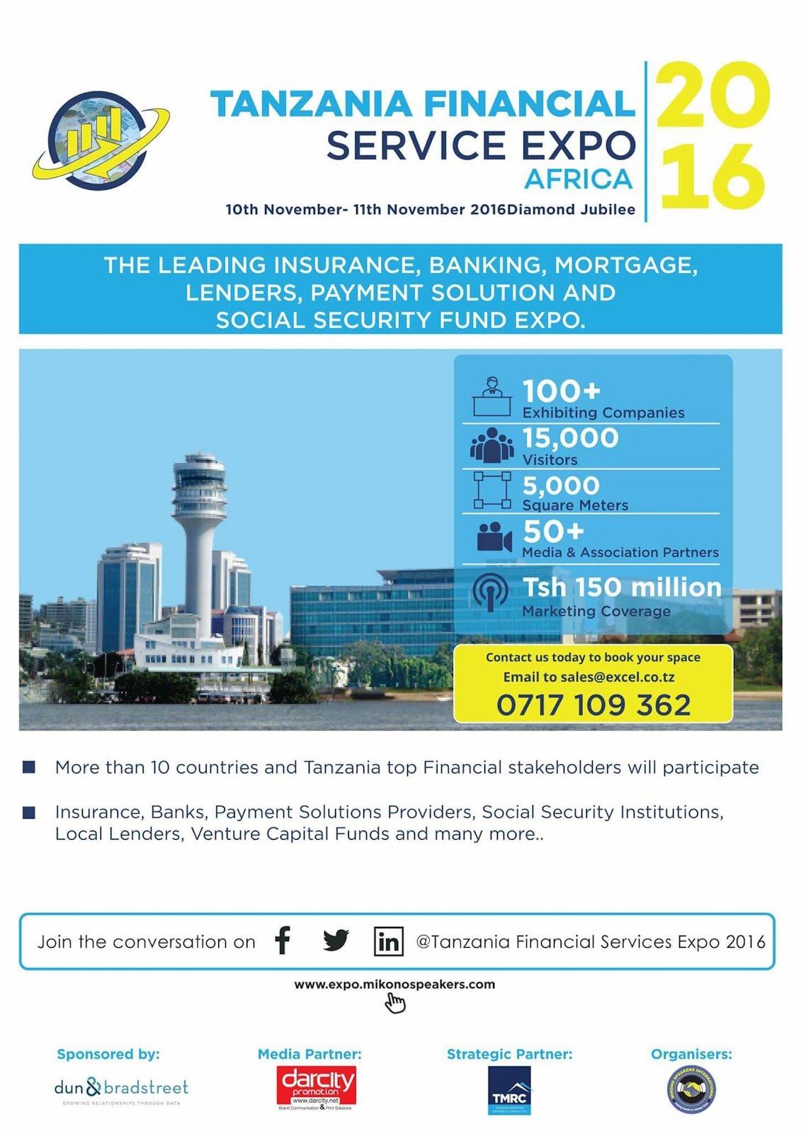 TANZANIA FINANCIAL SERVICES EXPO. 10-11 NOVEMBER 2016