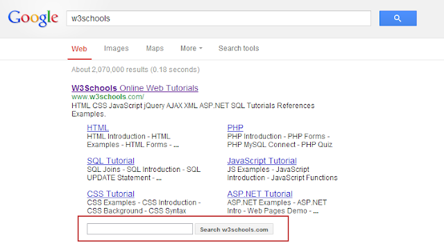 Website Custom Search In Google Search Results