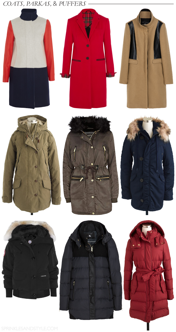 Winter Coats, Parkas, and Puffers || Sprinkles and Style