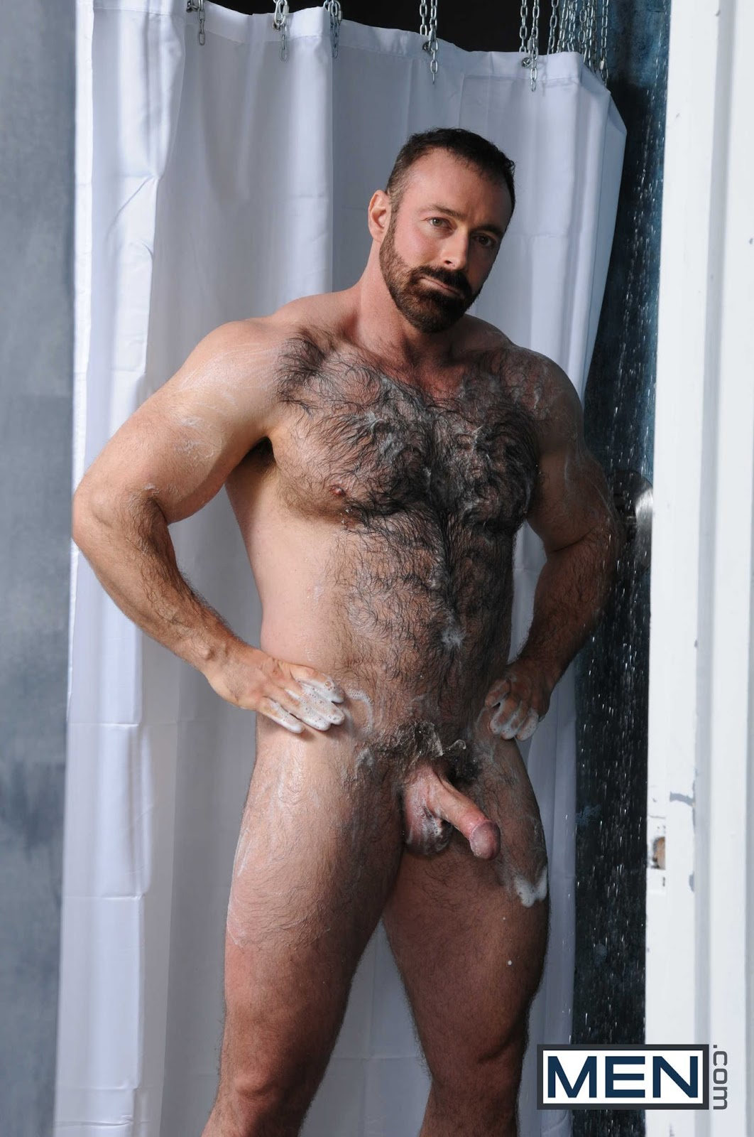 Naked daddy shower
