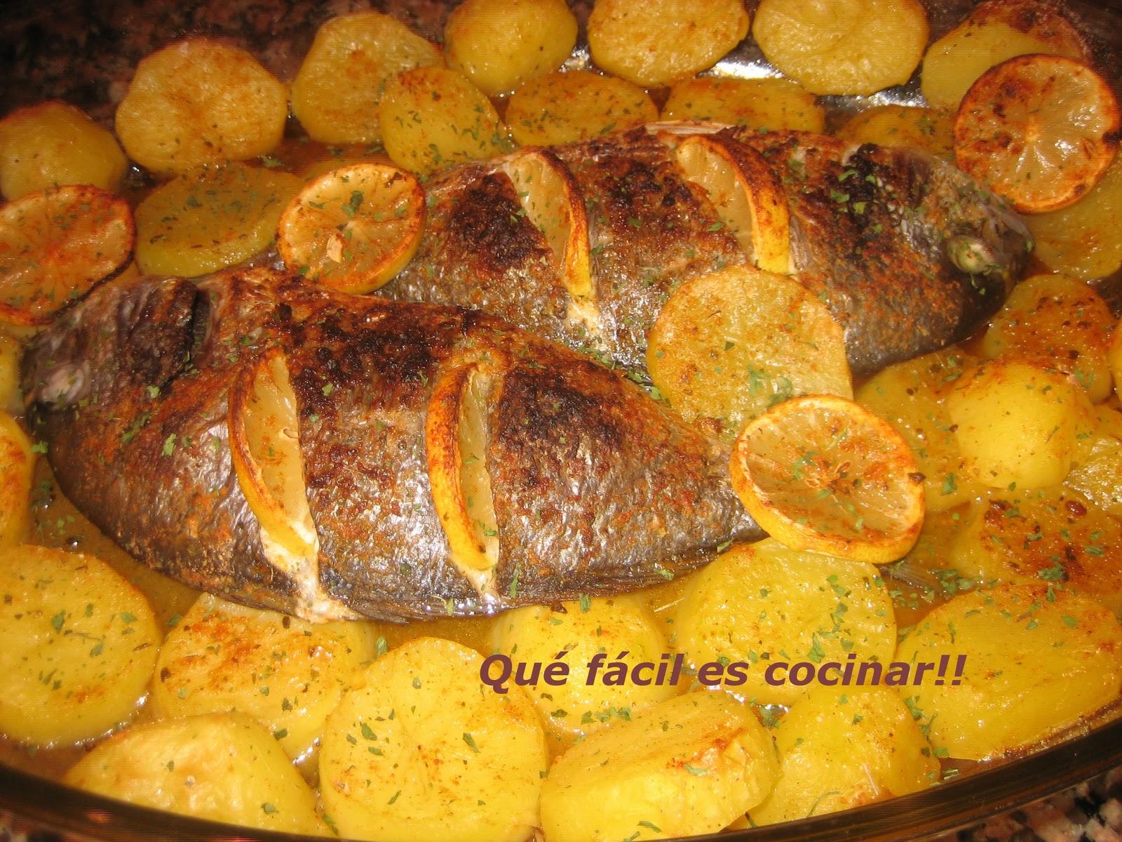 Perezosos a cocinar dorada al horno for Cocinar 180 grados