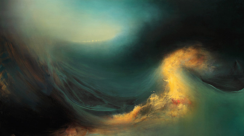 Magníficas pinturas abstractas de paisajes oceánicos internos