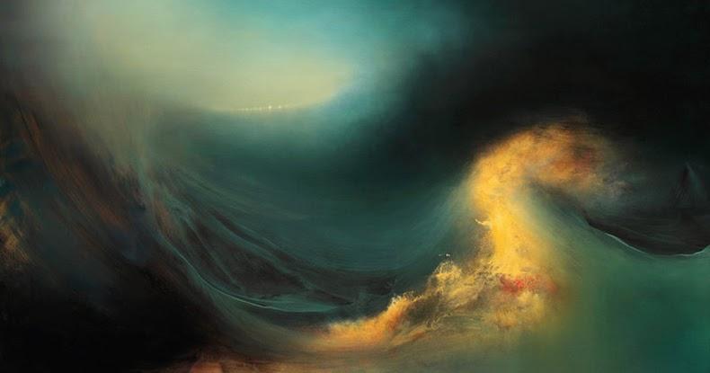 Magníficas pinturas abstractas de paisajes oceánicos internos ...