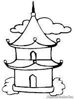 Mewarnai Gambar Tempat Ibadah Umat Budha