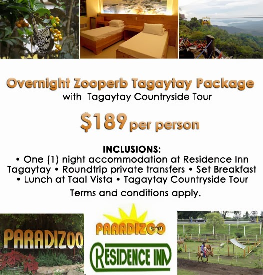 Mango Tours Tagaytay Paradizoo Zooperb Package