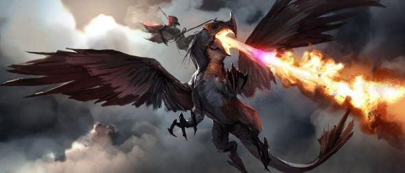 Brenoch Adams ilustrações fantasia ficção Dragão