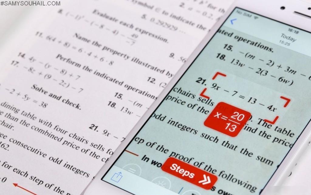 تطبيق Photo Math عقدة «أساتذة الرياضيات»