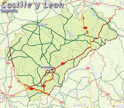 Segovia Mapa Ciudad de la Región