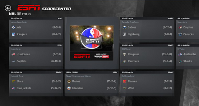 ESPN app for Windows 8 Released