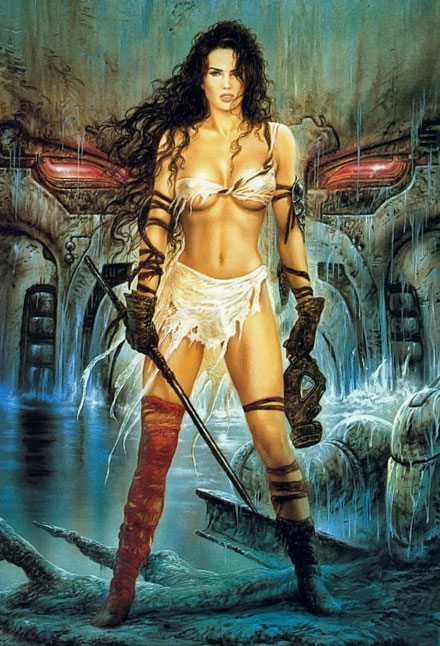 Erotic woman warrior fantasy art well-filmed, quality