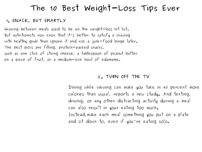 best tips ever to loss weight