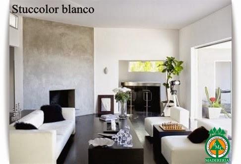 Stuccolor en pared Maderas Cuale