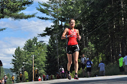 Triathlete in Lake Placid Race