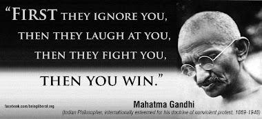 Gandhi said;