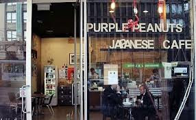 Purple Peanuts Japanese Cafe, Collins Street Melbourne