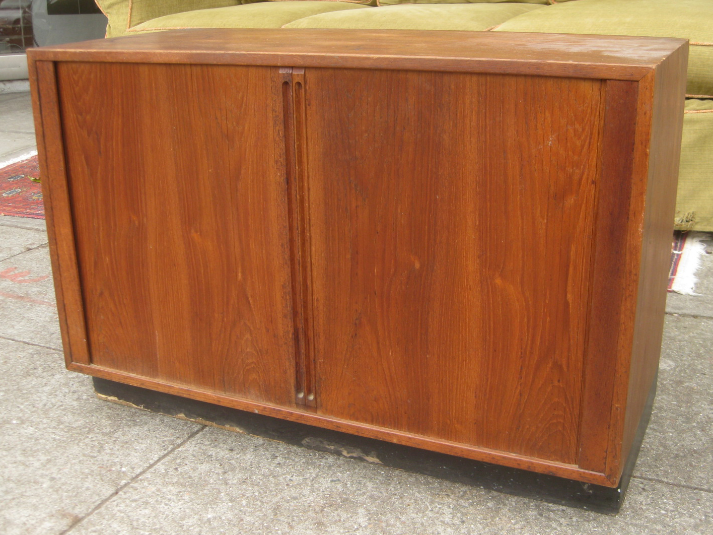 Uhuru Furniture Collectibles Sold Record Cabinet With Sliding Doors 45