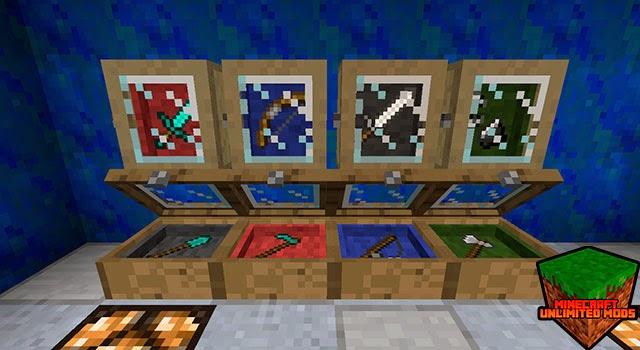 Bibliocraft Mod vitrinas