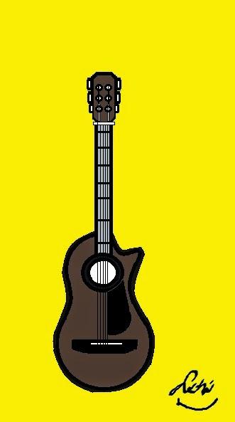 Cara Lukis Gitar