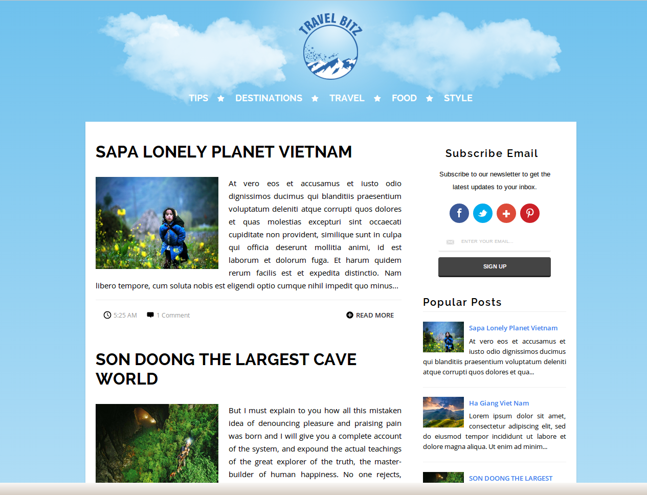 TravelBitz Blogger Template