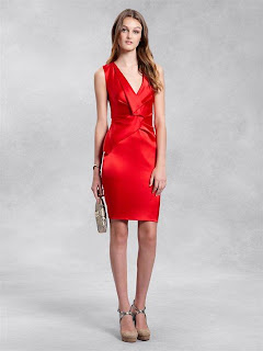 DKNY | Strapless V-Neck Dress with Ruffle Front | Designer | Fashion | Clothing | Shoes | Handbags | Jewelry | New Year | Sale