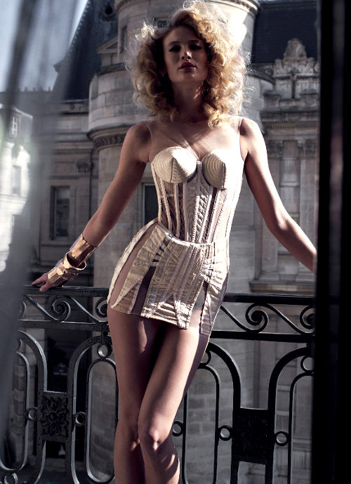 Madonna style white corset
