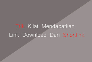 Trik Kilat Mendapatkan Link Download Dari Shortlink