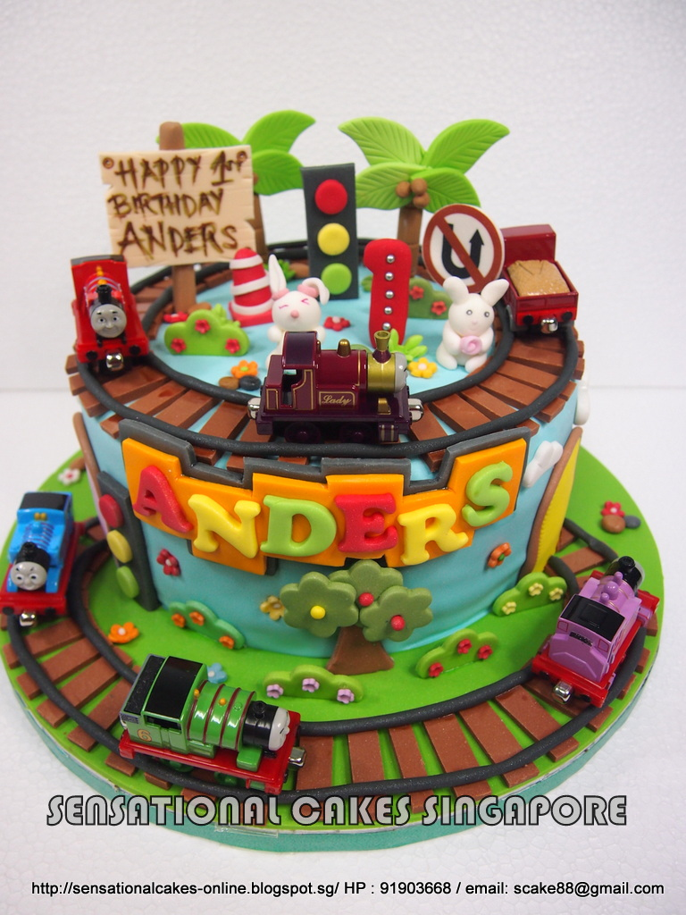 The Sensational Cakes: THOMAS TRAIN DESIGN CAKE SINGAPORE