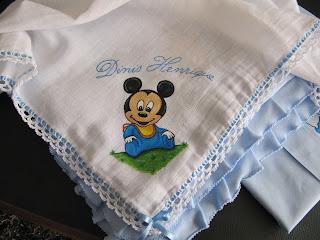 fralda com mickey baby pintado